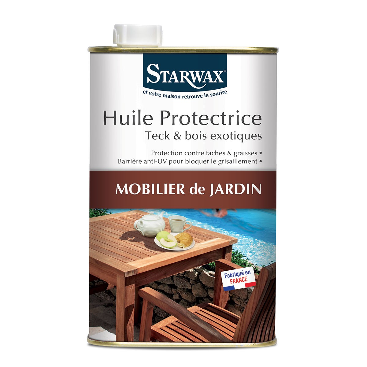 huile protectrice teck et bois exotiques 1l starwax starwax. Black Bedroom Furniture Sets. Home Design Ideas