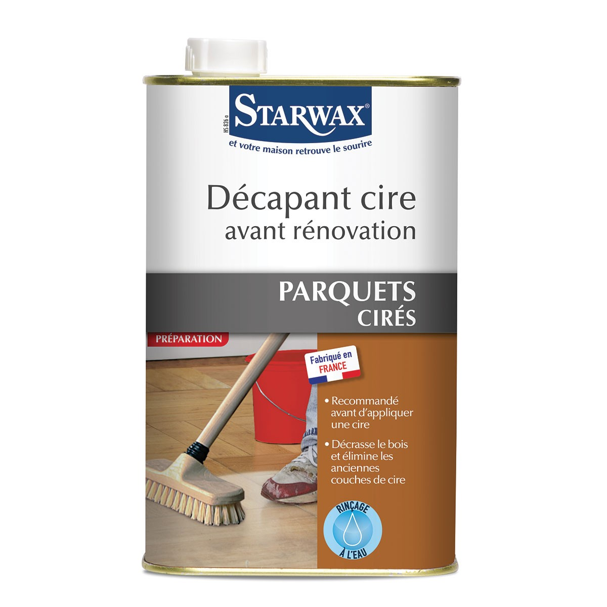 d capant cire extra fort pour parquet cir 1l starwax. Black Bedroom Furniture Sets. Home Design Ideas