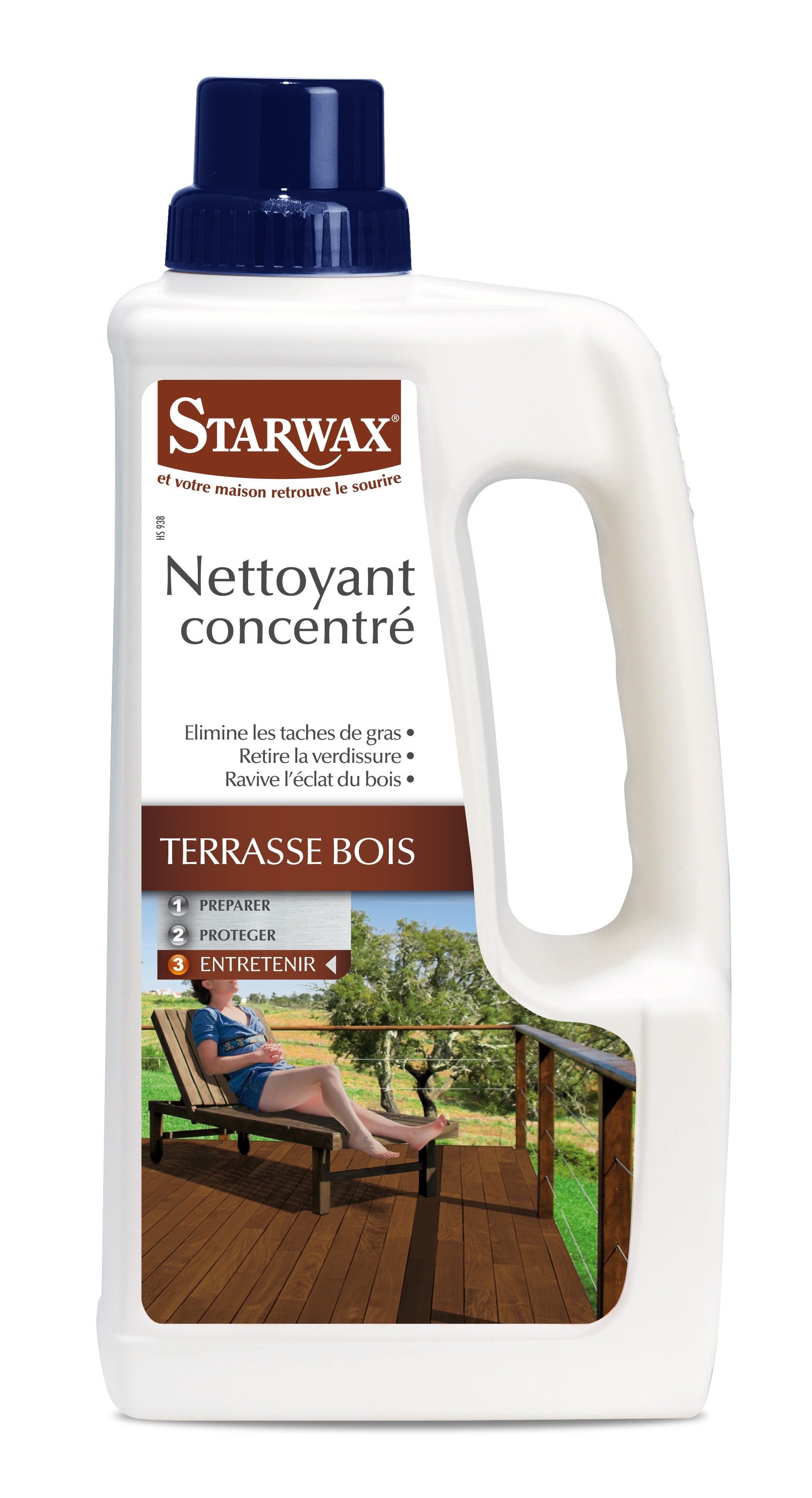 nettoyant terrasse bois 1 l starwax. Black Bedroom Furniture Sets. Home Design Ideas