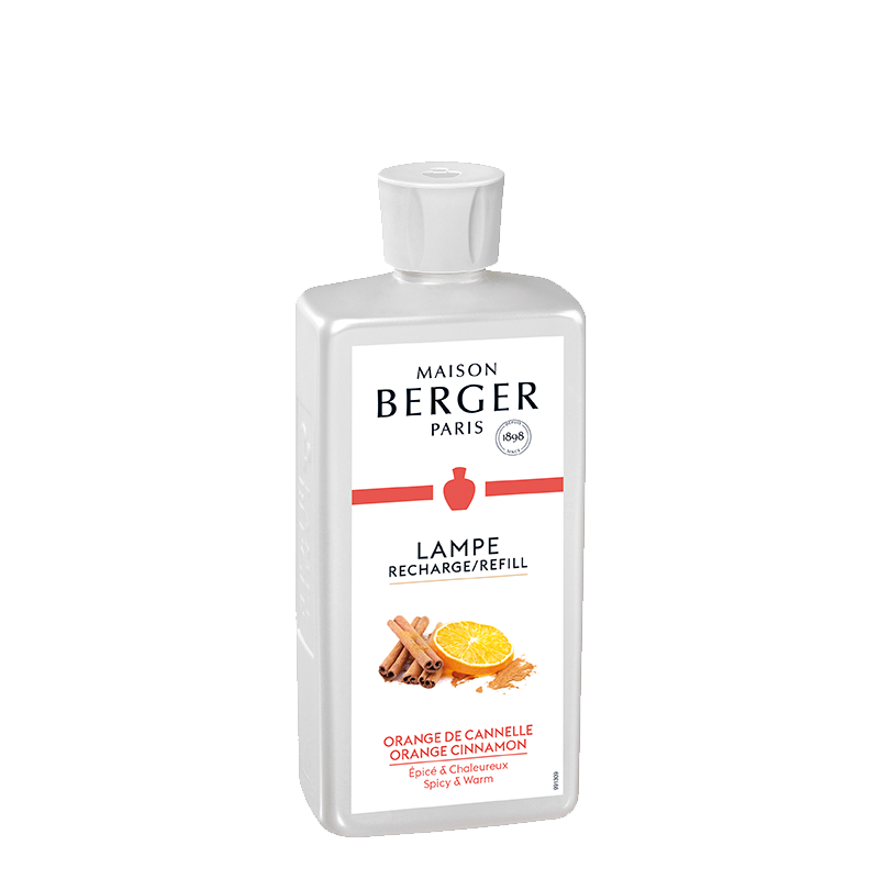 "Parfum de Maison ""Orange de Cannelle"" 500 mL - Recharge pour Lampe - Berger"