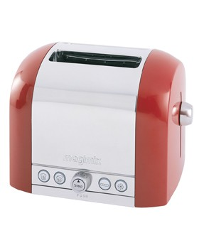 Toaster Inox 2T 1150W Rouge - Magimix.