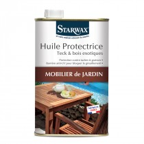 Huile protectrice teck et bois exotiques 1L. - Starwax.