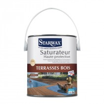 Saturateur haute protection terrasses bois (incolore) 1L. - Starwax.