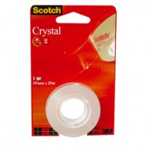 SCOTCH TRANSP.25MX19MM 61925RF S/CARTE