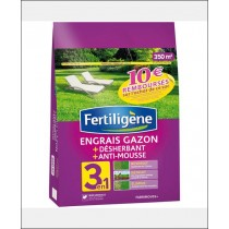Engrais gazon 3 actions 350m2 - FERTILIGENE