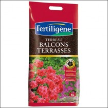 Terreau balcons terrasses 6l- Fertiligène