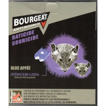 Raticide et Souricide blocs hydrofuges 400g - BOURGEAT