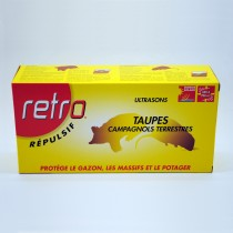 Répulsif ultrasons Taupes (solaire). - Retro.